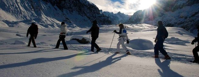 Snowshoeing on the Mer de Glace – 1913 m