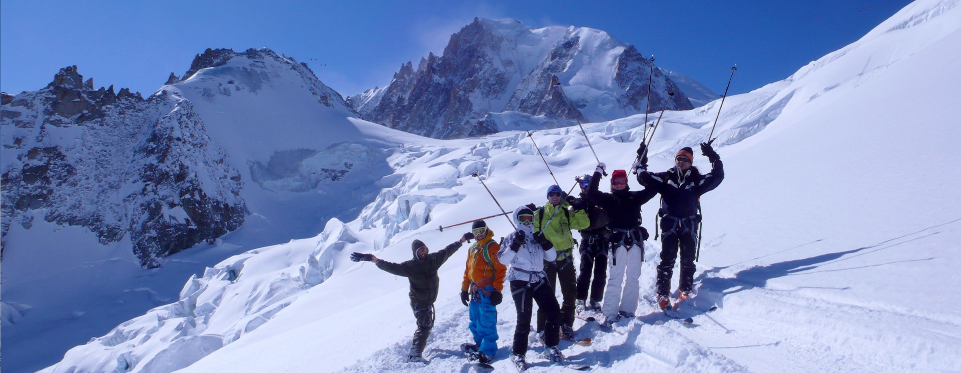 Winter activities vallee blanche - chamonix mont blanc